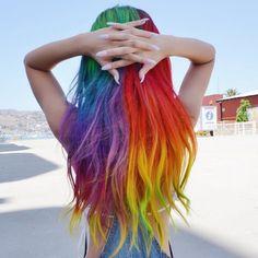 Bloques de color arcoíris | 21 Colores atrevidos que te inspirarán a teñirte el cabello en 2016