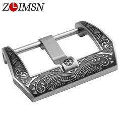 ZLIMSN Wholesale Engraved Buckle Metal Watch Buckles Black Carved Clasp 22mm 24mm for Panerai Man Women Relojes Hombre 2017