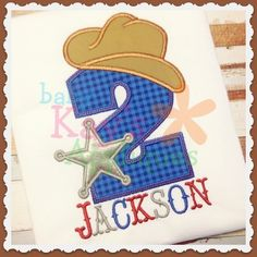 """Baby Kay's Appliques - Cowboy Numbers 0-9, 4x4, 5"""", 6"""", 7"""", 8"""", $4.98 (http://www.babykaysappliques.com/cowboy-numbers-0-9-4x4-5-6-7-8/)"""