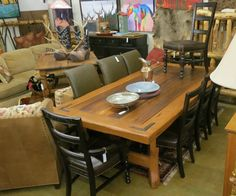 Western Style Dining Table With Ox Yoke Legs 48 X 96