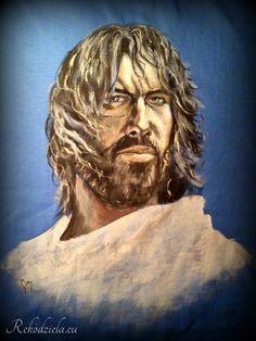 #Thorgal painted at shirt for my collegue :) Thorgal namalowany przeze mnie na koszulce, dla koleżanki :)