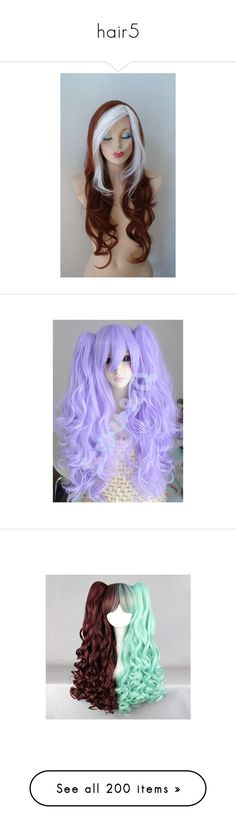 """hair5"" by chibirosechain ❤ liked on Polyvore featuring beauty products, haircare, hair styling tools, hair, idania bizhiw- hairstyle, wigs, hairstyles, accessories, people and costumes"