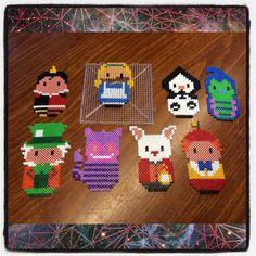 Alice in Wonderland hama beads by dorro85