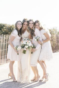 Lacey white: http://www.stylemepretty.com/2015/07/06/all-chic-all-white-bridal-party-inspiration/