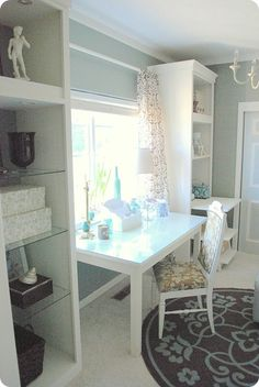 belle maison: The Best! DIY Home Office Make-Over