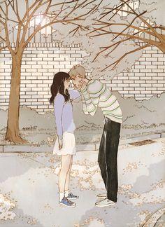 Cute Couple Drawings, Cute Couple Art, Anime Cupples, Anime Art, Couple Illustration, Illustration Art, Aesthetic Art, Aesthetic Anime, Gifs