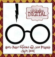 Instant Download Harry Potter Black Glasses by ChickadeeDigital, $2.75