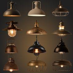 Wholesale Vintage Industrial Lighting Copper Lamp Holder metal Pendant Light American Aisle Lights Lamp Edison Bulb 110V-260V
