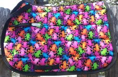 Neon Frogs Olympic saddle pad