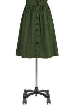 I <3 this Button front embellished dot skirt from eShakti