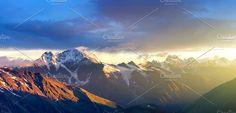 Mountain sunrise. Nature Photos