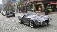 Pittsburgh Vintage Grand Prix Parade & Car Show. The #PVGP parade cars entering Market Square