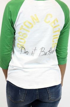 Vamped Boutique - NBA Boston Celtics Raglan | Junk Food, $39.00 (http://vampedboutique.com/nba-boston-celtics-raglan-junk-food/)