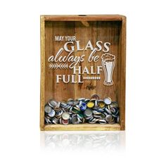12x 16 Bottle Cap Holder , Beer Sign, Beer Cap Shadow Box, Bottle Top Holder, Beer Quotes by TheCorkBox on Etsy #beerquotes