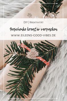 Geschenke, ganz gleich, ob Weihnachten oder Geburtstag kreativ zu verpacken ist überhaupt nicht schwer. In meinem neuen Blogpost erzähle ich dir wie ich meine Geschenke verpacke und wo ich mir die Inspiration dafür hole. Inspiration, Wrapping Gifts, Packaging, Birthday, Christmas, Creative, Biblical Inspiration, Inspirational, Inhalation