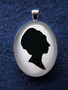 Barbra Streisand as Fanny Brice in Funny Girl Silhouette Cameo Pendant Necklace