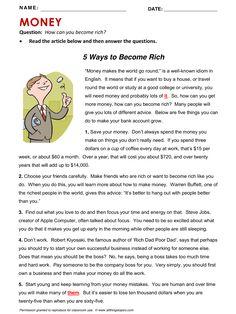 Money, English, Learning English, Vocabulary, ESL, English Phrases, http://www.allthingstopics.com/money.html