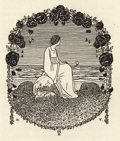 Heinrich Vogeler, Art Nouveau, Sculpture Art, Sculptures, Illustration Art, Vintage Illustrations, Medieval Costume, Cool Artwork, Vintage Art