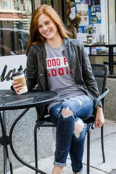 Arkansas Block Art Tee - University of Arkansas - Wooo Pig Sooie - Perfect paired with your favorite boyfriend jean for game day or for picking up your favorite coffee which is a day maker!