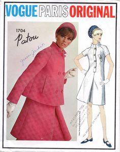 VPO 1704 Patou Dress & Swing Jacket Coat 60s Lovely Jackie O style used c/c env very good Sz10/31/33 sld 85+fr 10/19/17