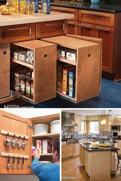 Remodeling ideas for your kitchen with new cabinets, backsplashes, and lighting. http://www.familyhandyman.com/kitchen