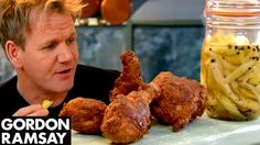 Buttermilk Fried Chicken with Sweet Pickled Celery | Gordon Ramsay - YouTube