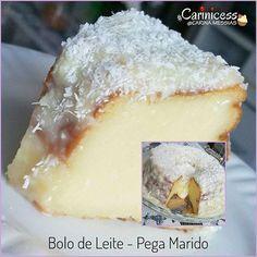"""BOLO DE LEITE - FAMOSO """"PEGA MARIDO"""" . . Tudo que é bom, mas MUITO bom eu compartilho com vocês. Esse bolo é MA-RA-VI-LHO-SO! . . . . É a gordice perfeita pro final de semana, vão por mim. . . . . INGREDIENTES DA MASSA: - 01 lata de leite condensado; - 01 lata de leite integral (300 ml); - 01 lata de farinha de trigo (150g); - 1/2 xícara de chá de açúcar; - 03 ovos grandes inteiros; - 03 colheres de sopa de margarina - 01 vidro pequeno de leite de coco (200ml); . . . . PARA COBER..."""