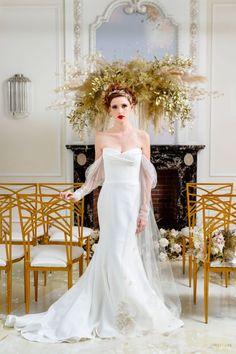 WedLuxe Magazine Modern Myth Wedding News, Wedding Trends, Event Planning Design, Event Design, Vera Wang Gowns, Flower Factory, Old World Charm, Designer Gowns, Luxury Wedding