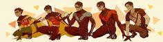 Evolution of Dick Grayson. Batman Love, Batman Robin, Dc Comics Superheroes, Dc Comics Characters, Nightwing, First Robin, Richard Grayson, Batman Begins, Dc Legends Of Tomorrow