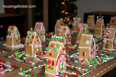 Gingerbread Birthday Party ~ lots of fun gingerbread games, decorations and simple graham cracker gingerbread houses