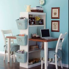 Special homework area that goes with the home and makes their space THEIR space!