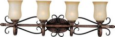 Home Décor Vanity Lights  Maxim Lighting 21134MCFL Four Light Filbert Mocha Cloud Glass Vanity Bronze * Find similar products by clicking the VISIT button