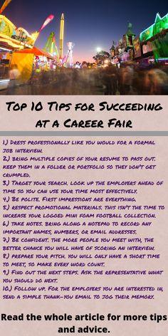 Top 10 Tips For Career Fair Success