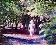 ARTFINDER: Shady summer walk by Rod Bere - A walk in the hot  summer sun, and looking for shade,inspired by a walk along the Dover clifftops.