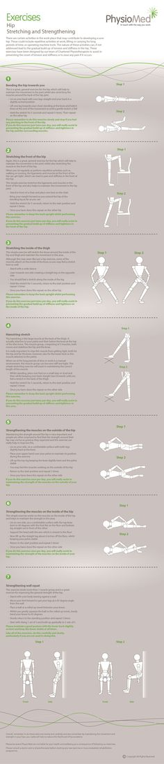Our hip exercise infographic helps to target and reduce common hip conditions. The exercises are simple, effective and can be performed in the workplace. For more information visit http://physiomed.co.uk/exercises/how-to-stay-hip-and-mobile-at-any-age