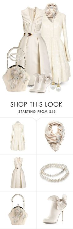 Winter White #2 by passion-fashion-2 on Polyvore featuring Giles, Alexander McQueen, Sergio Rossi, Fendi, London Road, Blue Nile and Mimco