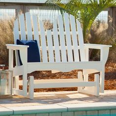 Polywood® Recycled Plastic Classic Adirondack 4 Ft. Outdoor Glider Loveseat