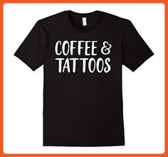 Mens Coffee And Tattoos Shirt | Tattoo Gifts | Tattoo Clothing 3XL Black - Food and drink shirts (*Partner-Link)