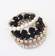 Bracelets Set of 5 - Black