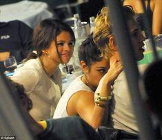 Selena Gomez, Vanessa Hudgens, and Austin Butler in Venice on September 4, 2012.