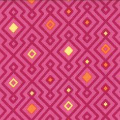 MODA-Cuzco-Fuchsia-Woven-Geometric-fabric-By-the-Yard-27136-12-100-cotton