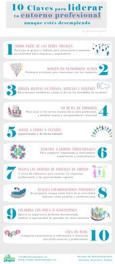 10 claves para liderar tu entorno profesional #infografia