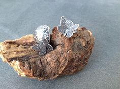 Sterling Silver Hearts and Butterfly Earrings by silvermeadows, £38.00
