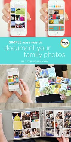 A simple, easy way to document your family photos using only your PHONE!!  Make pages and print all from the Project Life App using photos on your phone OR computer!