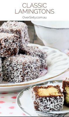 cute dessert recipes, cute dessert recipes, fall dessert recipes - Lamingtons Recipe - we've got the perfect recipe for these irresistable bite-sized cakes. Aussie Food, Australian Food, Australian Recipes, Just Desserts, Delicious Desserts, Dessert Recipes, Bite Size Desserts, Lamingtons Recipe, Lamington Cake Recipe