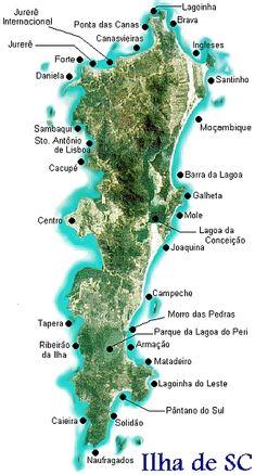 Mapa das praias de Florianopolis
