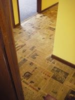 Old newspaper floor bathroom laundry rooms bathroom laundry and how to make beautiful brown paper bag floors solutioingenieria Images
