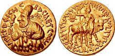 INDIA, Kushan Empire. Vima Kadphises. Circa AD 113-127. AV Double Dinar (25mm, 15.92 g, 12h). Bilingual series. Main mint in Baktria.