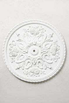Georgian Ceiling Medallion #anthropologie wall art for master bath