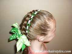 Green Eyelet Braid (St. Patrick's Day) from Princess Hairstyles